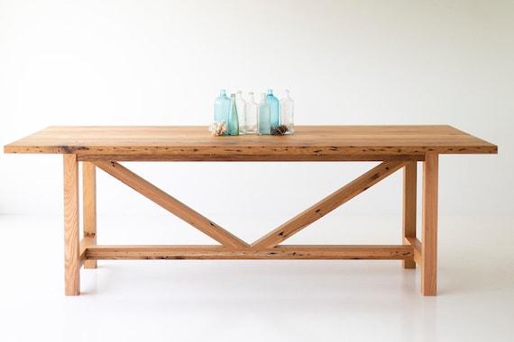 Awesome 90 Inch Modern Farmhouse Dining Table With Reclaimed Oak Base And Top Creativecarmelina Interior Chair Design Creativecarmelinacom