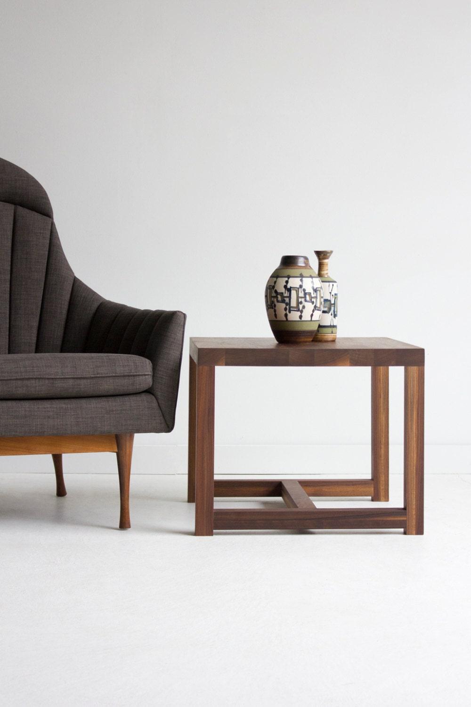 table dappoint bois d cor de ferme de style d cor moderne etsy. Black Bedroom Furniture Sets. Home Design Ideas