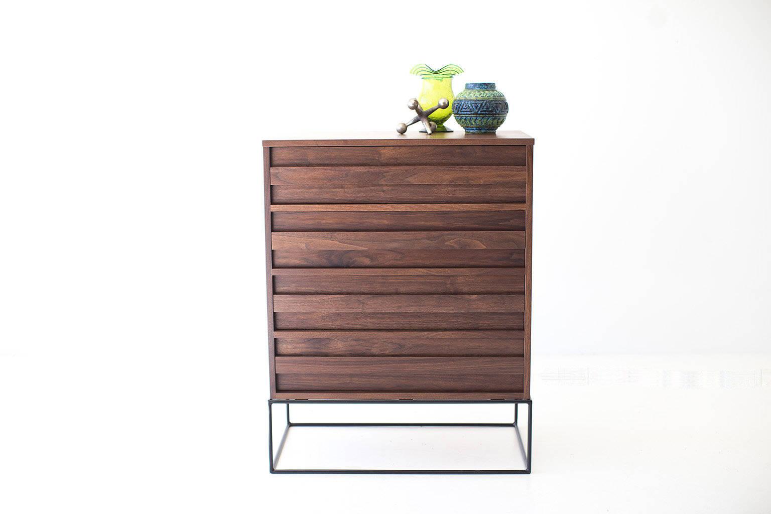 Sale Mid Century Dresser Mid Century Modern Walnut Dresser Mid Etsy