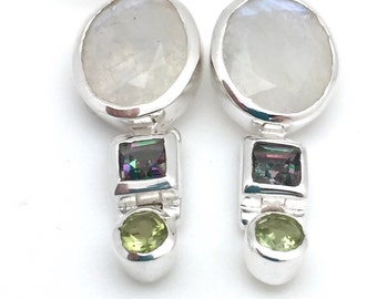 Moonstone Modern Dangle Earrings