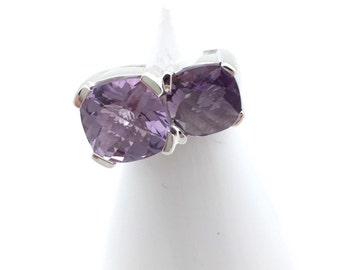 Double Vibrant Amethyst Ring