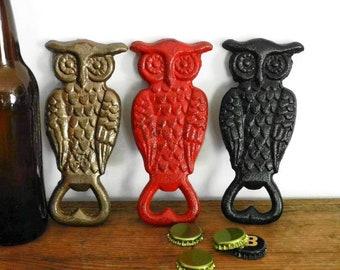 Ardour Owl Bottle Opener.Metal Beer Bottle Openers.Owl Shaped Decorative Bar Accessories Silver