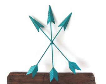 Arrow Wall Decor - Custom Color Arrow Wall Hanging - Metal Arrows - Southwestern Decor - Boho Wall Hanging - Arrow Wall Art - Arrow Art