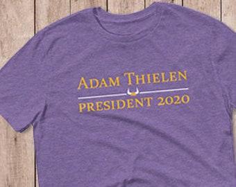 Adam Thielen for President - Minnesota Vikings - Short-Sleeve T-Shirt 31a71965c