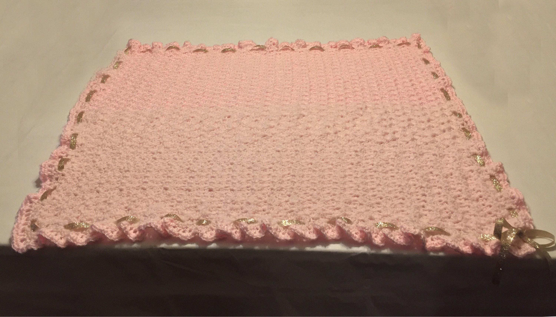 Baby Blanket Crochetted With Bernat Softee Baby Yarn Pick Etsy