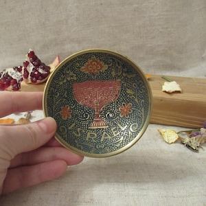 Ashtray vintage lead ashtray gray old ashtray Pfeiffer Winterthur ashtray round dark gray ashtray with ornaments