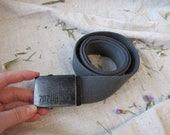 Vintage dark green khaki fabric belt with metal buckle belt for jeans gift for girl metal buckle 707