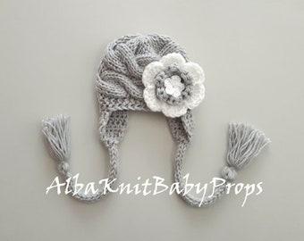 fa3b883ed466b Knit Baby Girl Hat Newborn Photo Props Toddler Girl Winter Hat Knit Baby  Girl Winter Hat Winter Baby Hat Newborn Baby Hat Toddler Baby Hat