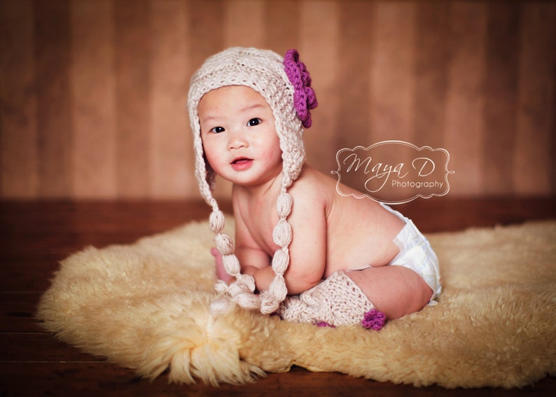 53bdb3e15 Baby Girl Outfit - Knit Baby Girl Hat and Leg Warmers- Baby Girl -  Photography Photo Prop Girl Hat -Newborn Leg Warmers and Hat