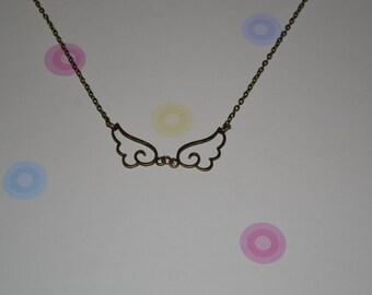 Chibi Bronze Wings Necklace