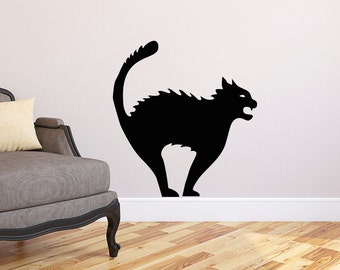 Black Cat Halloween Wall Sticker