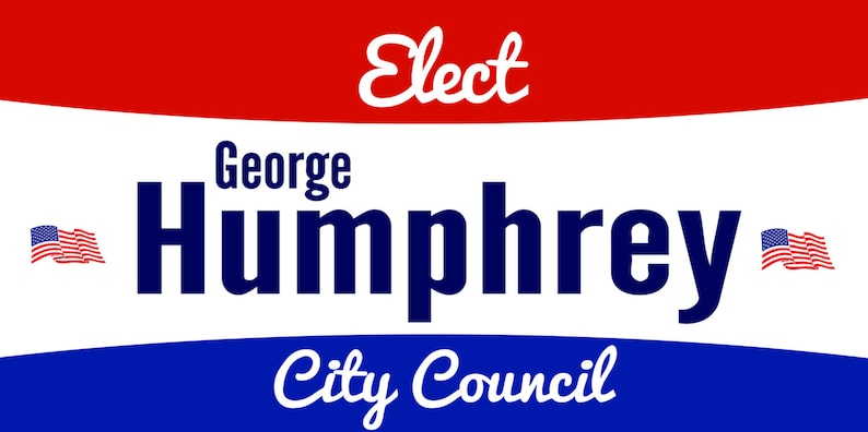 Political Election Banner with Flags