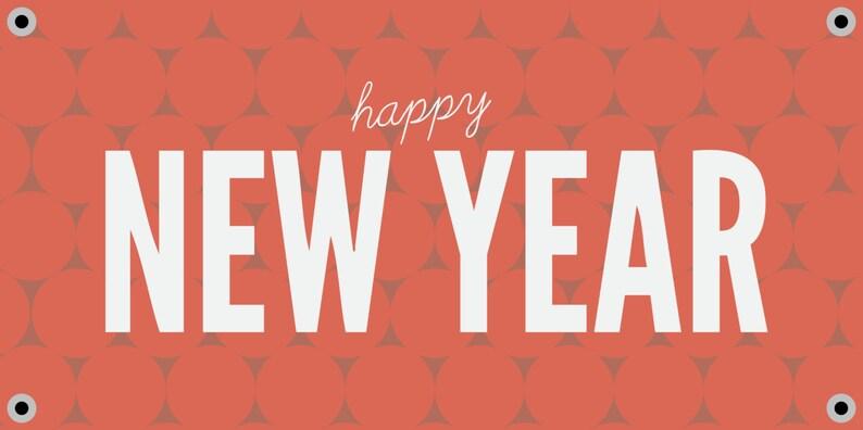 Circles Happy New Year Banner