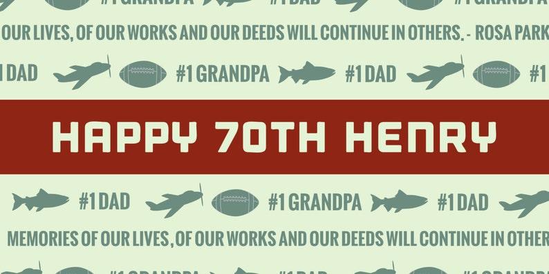 Happy 70th Birthday Grandpa Banner