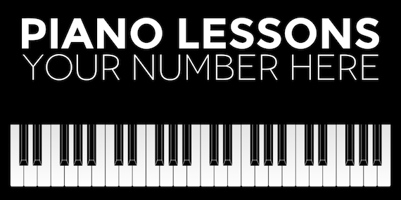 Piano Lessons Custom Banner Etsy