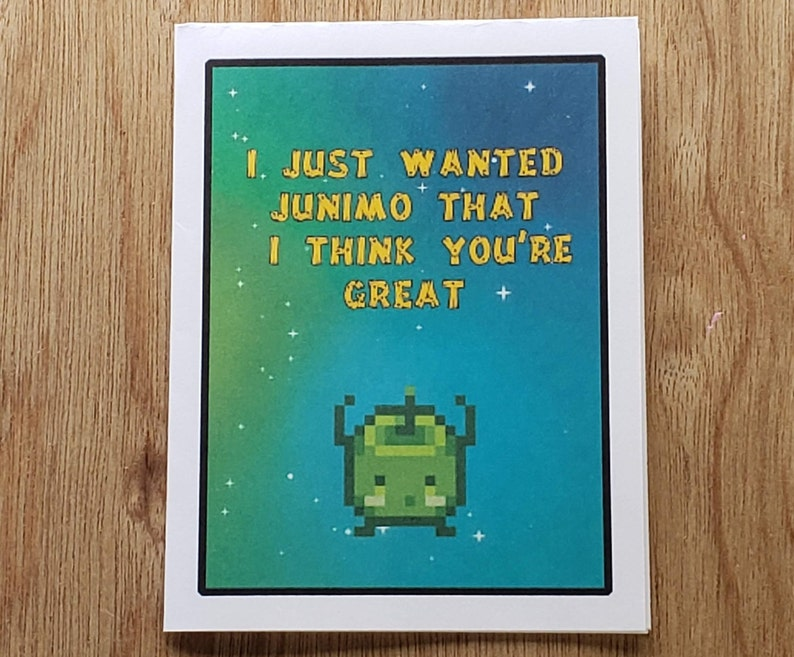 Stardew Valley Valentine's Day Card | Stardew Valley Junimo Card | Download  and Print at Home
