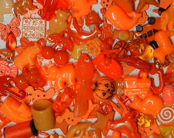 ORANGE TRINKETS (20) for color sorting activities, color matching, and other educational games.