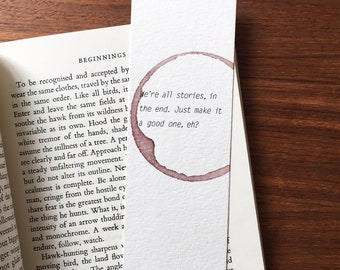 Doctor who bookmark, Gift for reader, Gift for boyfriend, Quote Bookmark, Paper bookmark, Unique bookmark, Anniversary gift Bookmark for her