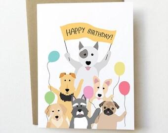 Dog Birthday Card Cute Lover Cards Girlfriend Childrens Corgi And Schnauzer