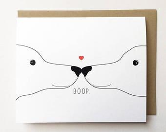 Dog Card, Dog Anniversary Card, Dog Love card, I love you Card, Dog birthday card, Dog boop card for her, Card for girlfriend, card for him