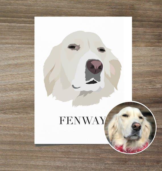 Custom Dog Portrait Pet Mothers Day