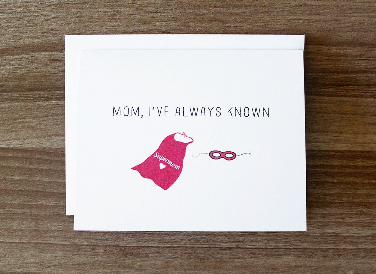Mothers Day Card Cute Mothers Day Card Mom Thank Etsy