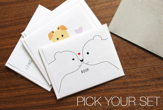 Mix And Match Card Set Pick Your Cards Bulk Invitation Card Set Cute Greeting Cards Dog Themed Cards Thank You Card Set Dog Card Set