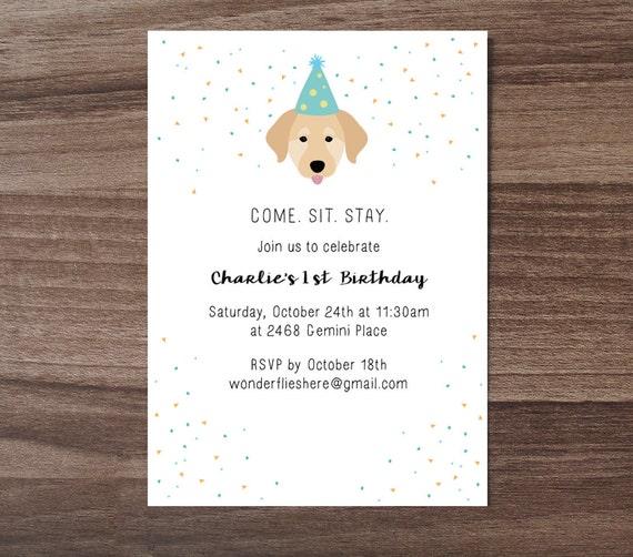 Custom dog theme birthday invitation childrens birthday etsy image 0 filmwisefo
