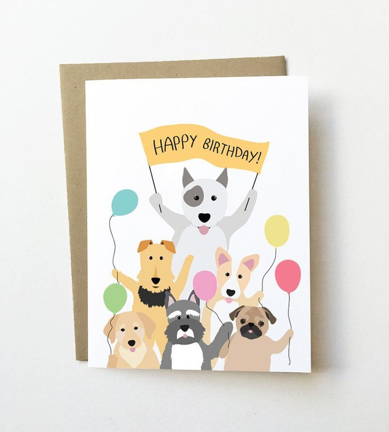 Dog Birthday Card Cute Lover Cards Girlfriend Childrens Corgi And Schnauzer