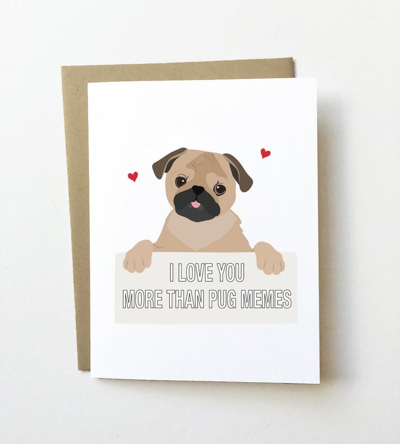 Pug Love Card Birthday Anniversary Etsy Jpg 794x882 Husbands