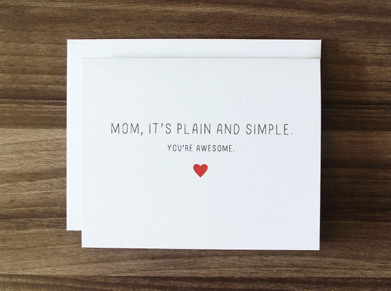 Cute Mothers Day Card Awesome Mom Card Mom Birthday Etsy