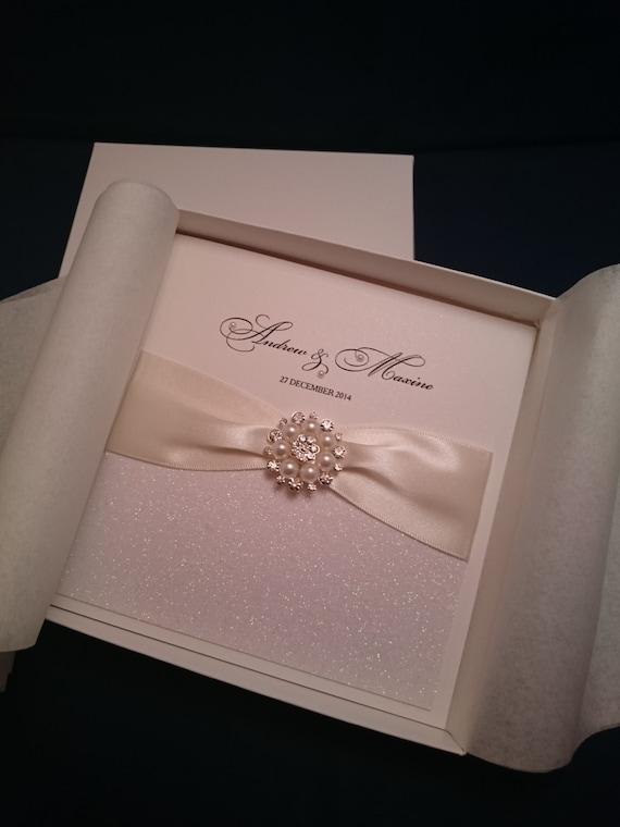 Luxury Handmade Wedding Invitation Sample Square Boxed Large Etsy