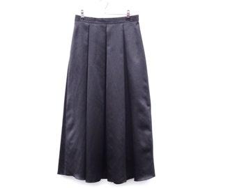 Vintage Skirt   Midnight Black   Satin   Glossy