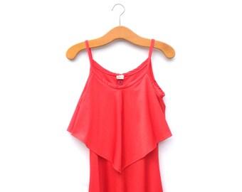 Vintage Dress | 70's | Soul Train | Lipstick Red