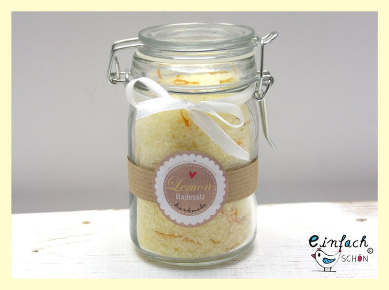 3.18EUR/100g Lemon Bath Salts Sea Bath Salts 250g image 0