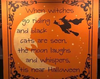 Primitive Halloween Sign