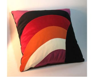 Rainbow Pillow I