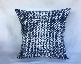 Home Decor Pillows - Decorative Pillows - Throw Pillows - Navy Pillow Cover - Batik Pillow - Pillow Covers