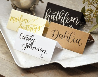Place Cards Handwritten Calligraphy Personalized Tent Cards, Place cards, Placecards, Escort Cards, Name Cards