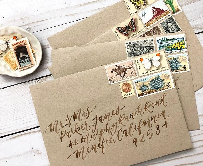Envelope Addressing Calligraphy. Wedding Calligraphy. image 0