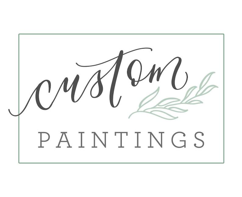 Custom Watercolor Painting. Floral Wreath Painting. Verses image 0