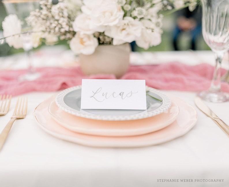 Watercolor Tent Cards Wedding Placecards Handwritten image 0