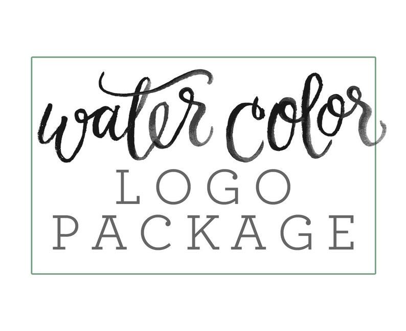 Custom Brush Lettering Watercolor Logo for Commercial image 0