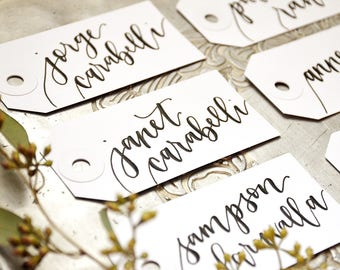Wedding Place cards, Calligraphy Personalized Gift Tags, Bachelorette Party Name Tags, Handwritten Placecards, Escort Cards, Name Cards