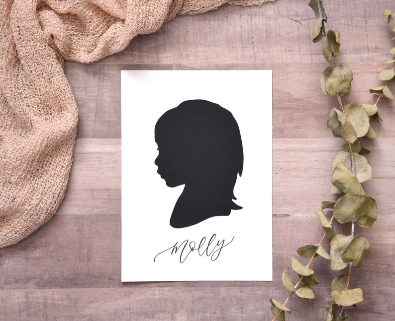 Papercut Silhouette Hand Drawn from your Photo  Personalize image 0