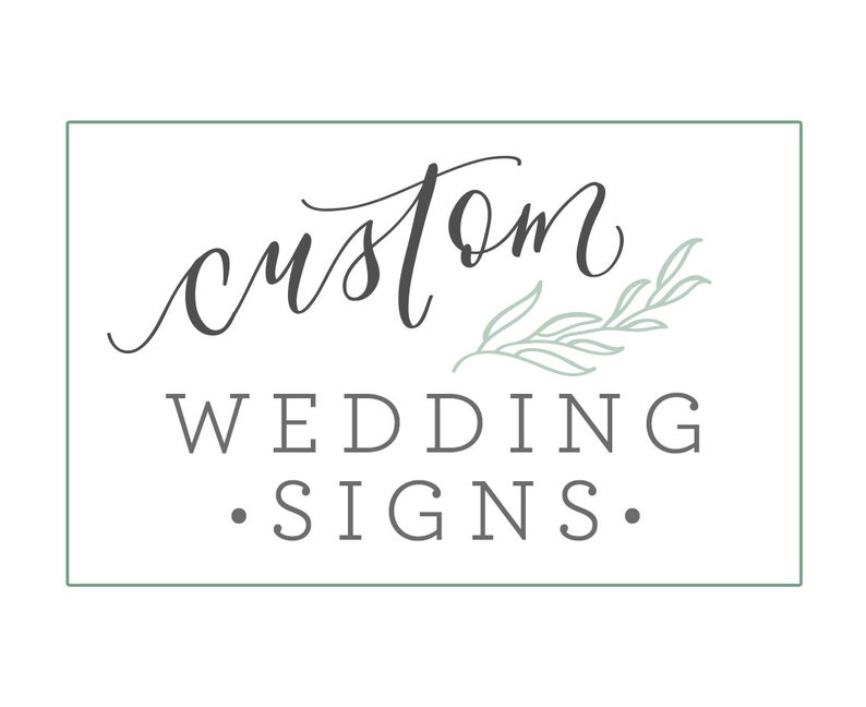 Custom Watercolor Wedding Signs for Wedding Favors Cards and image 0