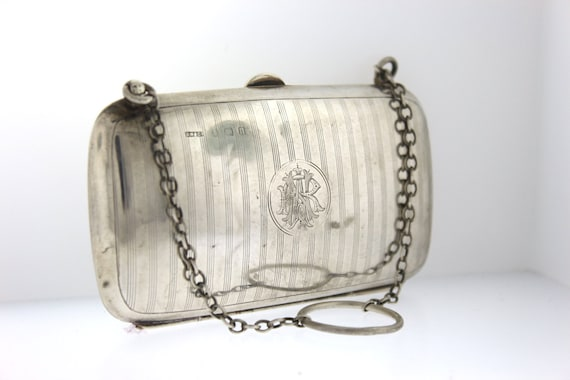 EnglandMother/'s Day Gift*Mother/'s Day Gift Antique Sterling Silver Coin Purse Hallmarked Birmingham Edwardian 1895