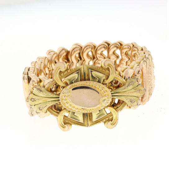 Vintage Expansion Bracelet, Gold Filled Carmen Bra