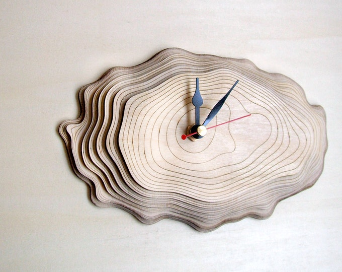 Small Bark clock - unique wall clock
