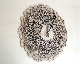 Large wall clock - Biggest Giraffe - wood